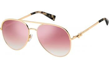 97534dd077e7 In Stock. Frame: Gold Copper. Lens: Pink. Sunglasses. Marc Jacobs ...